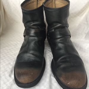 Frye John Addison harness boots SZ 13 back zip